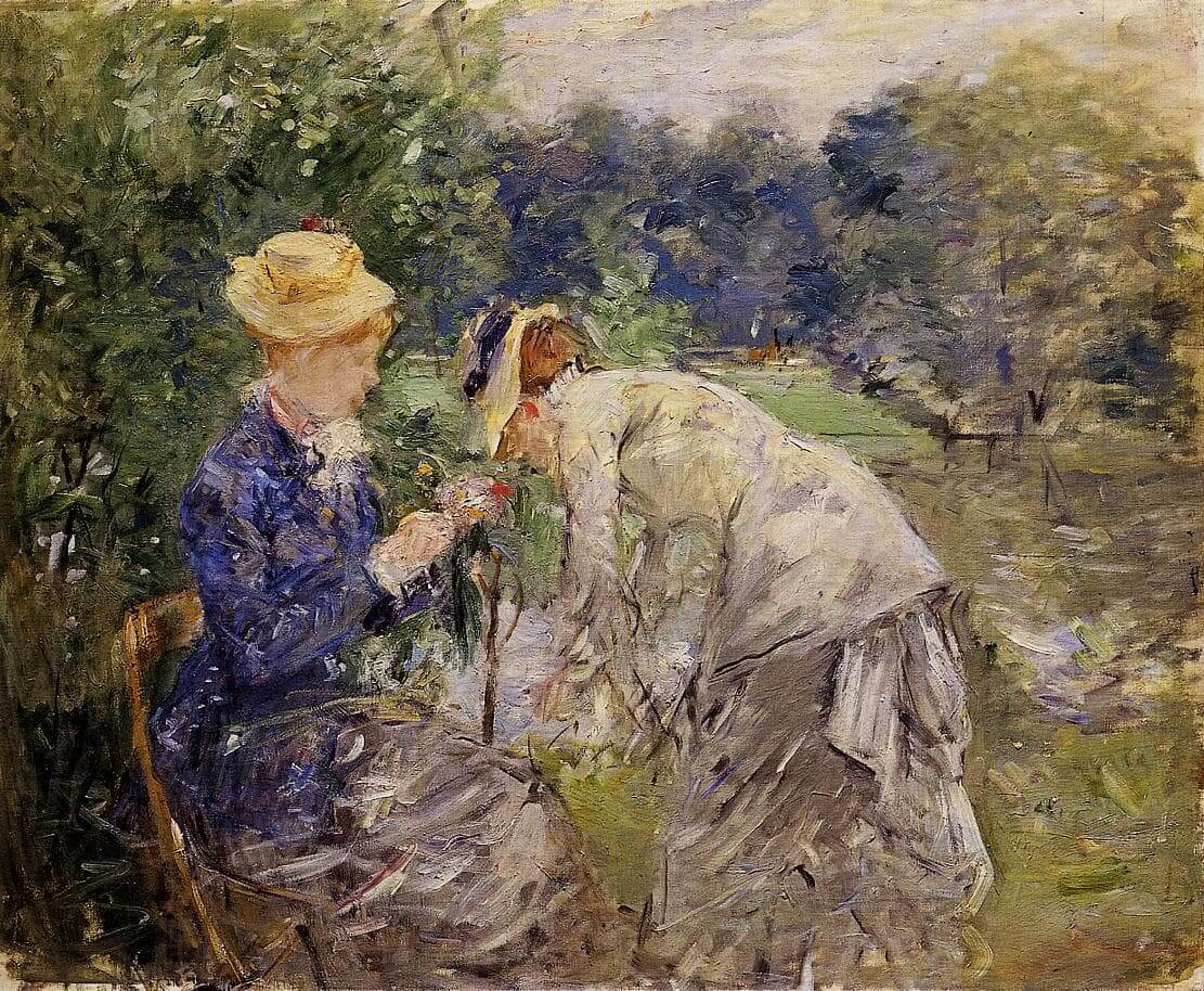 """In the Bois de Boulogne"" by Berthe Morisot"